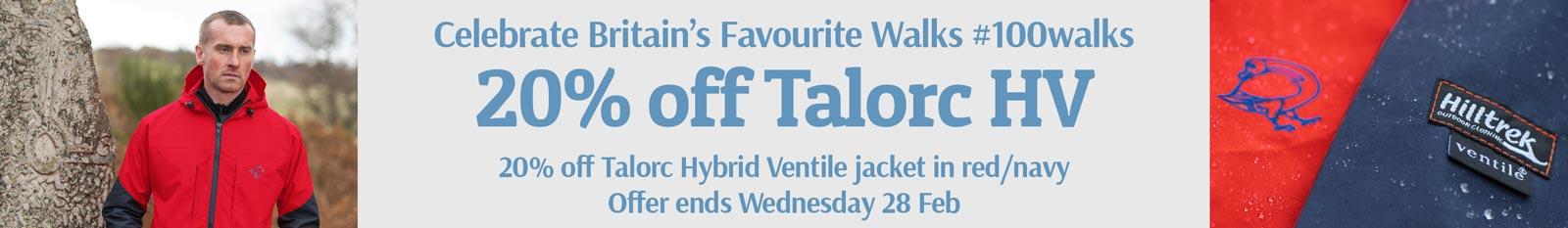 Celebrate Britain's Favourite Walks - 20 per cent off Talorc HV in red/navy