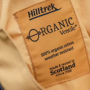 Hilltrek Organic Ventile - organic cotton and PFC free water repellency