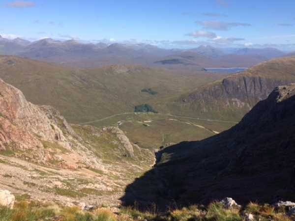 Looking back down the scramble up Coire Na Tulaich